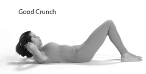Photo of crunch with proper form